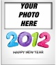 Put your photo card and congratulate the new year 2012, with numbers in color