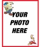 Postcard to do with your birthday photo, red border