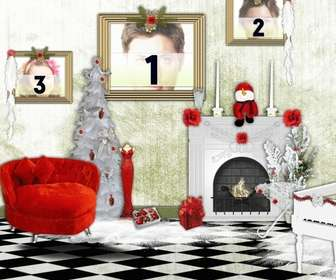 frame for three photos where u can put the photos in the pictures of house on christmas