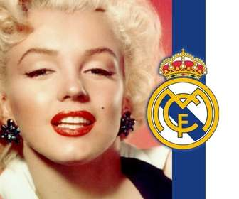 Put the shield and the colors of Real Madrid with your photo!