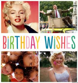 BIRTHDAY WISHES collage for four photos and celebrate your birthday