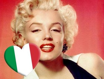 Heart with the flag of Italy to paste anywhere on your photos