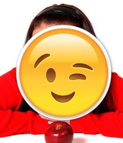 wink emoji to insert in ur photos
