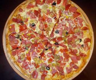 Hide your picture in this delicious pizza to have fun playing with people to find you in it.