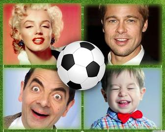 collage for four pictures perfect for football lovers