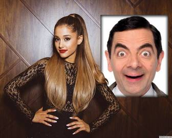 Photo effect with Ariana Grande to put your photo.