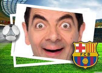 Photo effect of FC Barcelona to upload a photo