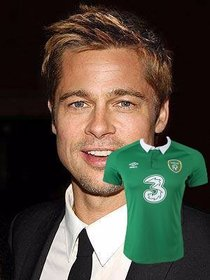 Paste the football jersey of Ireland in your photos as online sticker