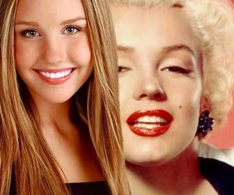 Create photomontages with Amanda Bynes before her transformation where you can also create a phrase with the typography and the color you choose.