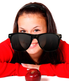 Sticker of sunglasses