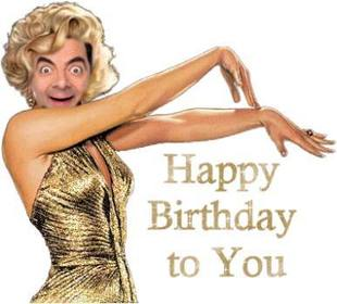 Happy birthday card with Marilyn Monroe customizable.