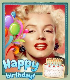 Free birthday card customizable with a photo.