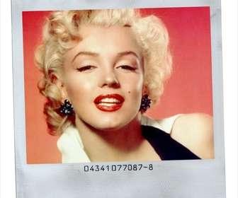 Photo frame Polaroid style with white background.