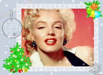 Photo frame with Christmas design to decorate online