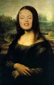 Photomontage of the Mona Lisa to put your face online