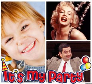 Photo collage of ITs MY PARTY to edit with two of your photos online
