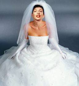 Dress up the bride in white dress with this photo montage