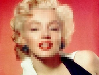 Hidden faces in photos easily online pixelating them.