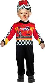 customizable photomontage of a child dressed as a race car driver