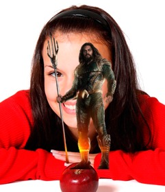 Photomontage of Aquaman to put in your photo.