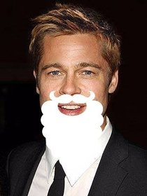 White beard of Santa Claus that you can paste into your photos online