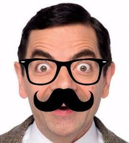 Be hipster with this effect of square glasses and mustaches for your photos