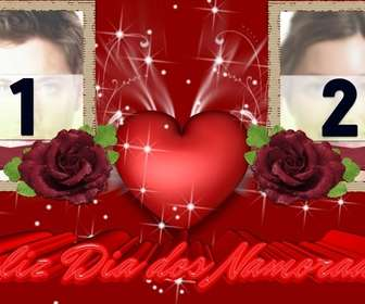 frame for two photos of love complimenting the valentinequots day valentinequots day use this effect to create custom card online and free