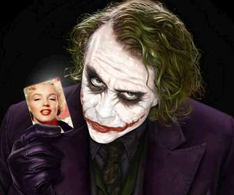 Get an easy and simple this free montage professional finish, consisting of Your photograph held by Joker, Batman antagonist.
