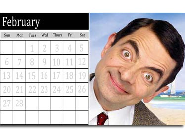 Template to customize your calendar for the month of February 2011. Upload a photo and edit easily from this page, your own calendar sheet in English.