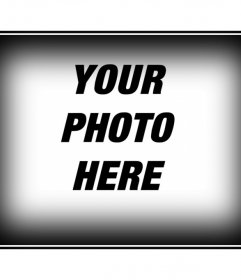 """Photo frame for a photo with white border and black. Edit your photos with mounts of this page, easily and free. You""""ll get professional results"""