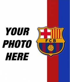 Put the colors and emblem of Barcelona in your picture and show your