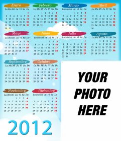 Calendar 2012 Children of Many Colors for your favorite photo.