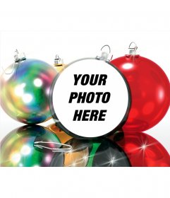 Christmas Photo effect to put your picture on a Christmas ball, very funny.