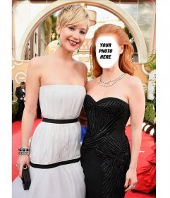 Pose with Jennifer Lawrence with this photomontage to do with your photo