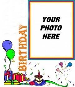 Birthday card, holiday decorations customizable with your photo