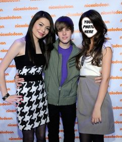 Photomontage of Justin Bieber at Nickelodeon