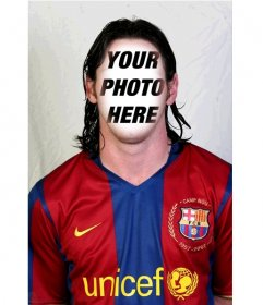 Photomontage of Lionel Messi of FC Barcelona to add your face in his face