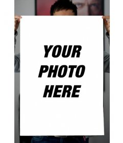 Put your photo in a poster with this funny effect.