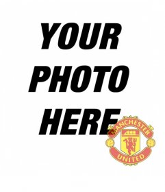 Photo effect to put Manchester united badge on your photo