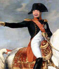 Photomontage with Napoleon Bonaparte on horseback