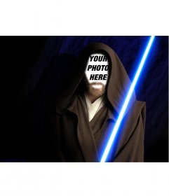 Photomontage of Obi Wan Kenobi in the movie Star Wars. Create the collage with your photos