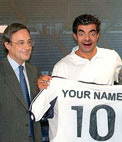 Real Madrid new player presentation photo