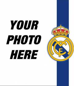 Put the shield and the colors of Real Madrid with your