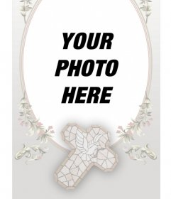 Remembrance First Communion card with photo and text