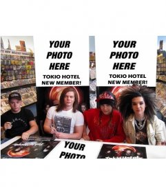 Collage to put your photo in new member of Tokio Hotel