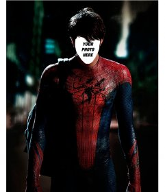 With this photomontage put your face on the body of Spiderman
