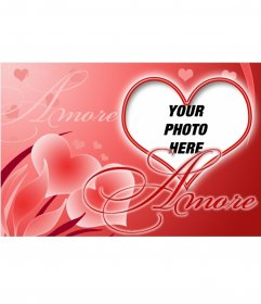 Postcard shaped heart for your love