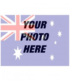 Draw the AUSTRALIA flag on a photo