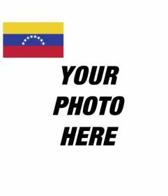 Venezuela flag to customize your social media avatar for free and online
