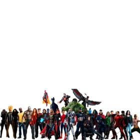 Photomontage with the characters of Avengers Infinity War